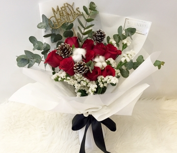 Hand Bouquet 274 – Snowflakes